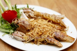 Roasted Mantis Shrimp With Salt