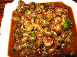 Fried Snails With Chili Sauce