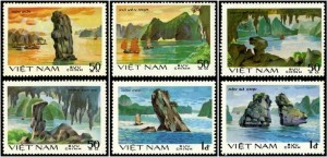 Travelling Ha Long Through Vietnam Stamps