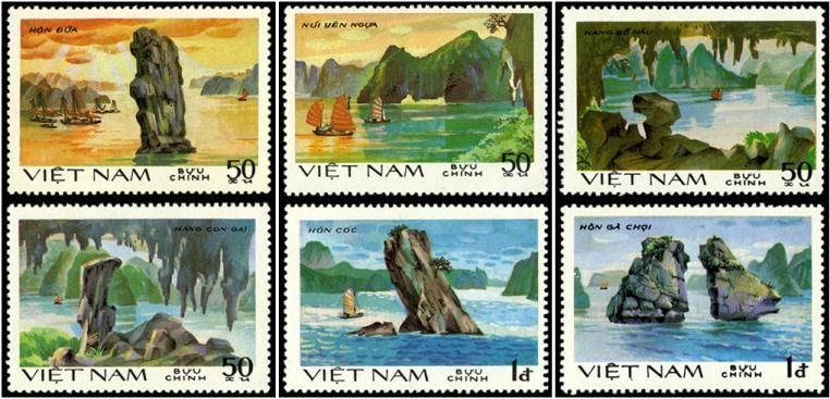 Ha-long-bay-through-stamps