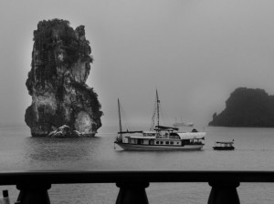 Ha Long Bay in Black And White Color On American Magazine
