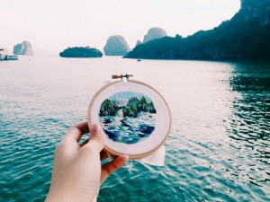 Vietnam In Embroidery Of Foreign Tourists