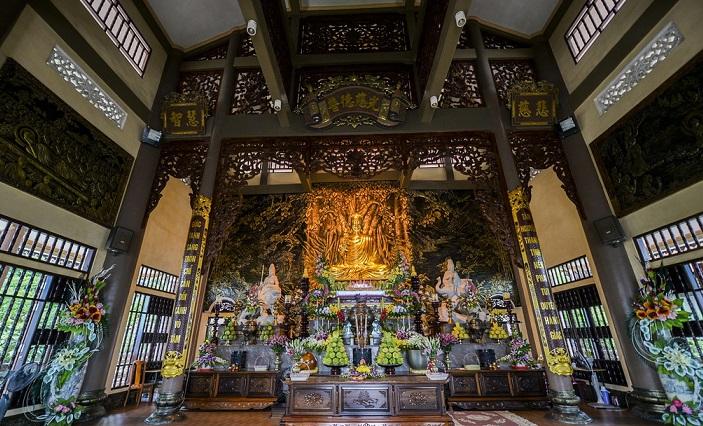 Inside Cai Bau pagoda