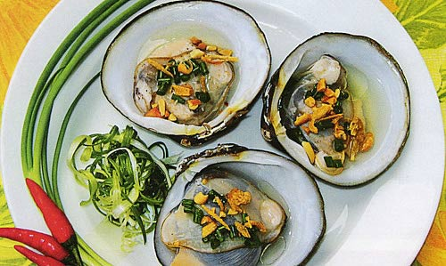 Ngán looks like clam but bigger than it and it can be cooked in many different ways.