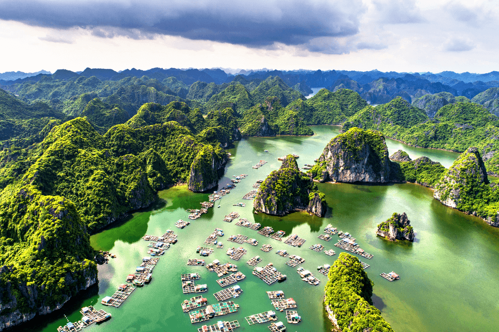 The emerald seawater
