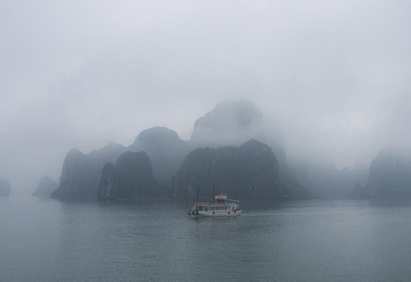 Ha Long in clouds